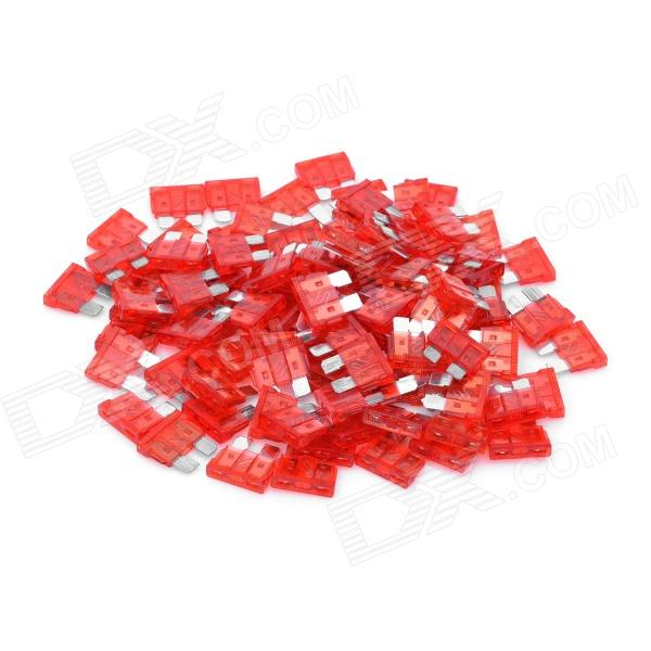 12V 10A Car Power Fuses (100-Piece Pack)