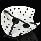 Elegante múltiples orificios Broken Face Mask - Blanco