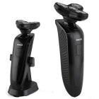 LK-8860 Rechargeable 4-Blade Rotary Shaver Razor - Black
