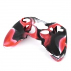Protective Silicone Cover Case for Xbox 360 Controller - Camouflage Red