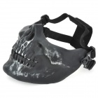 Tactical-Outdoor-Sports-Skull-Face-Protection-Mask-Silver-Black