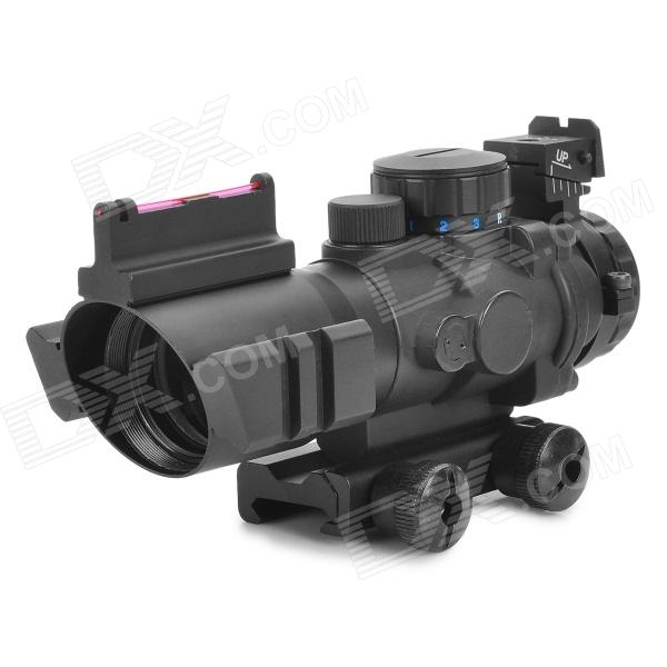 4x32mm táctico fibra óptica Red / / Alcance verde Blue Dot Sight for 20mm Rail Gun - Negro (1 x CR2032)