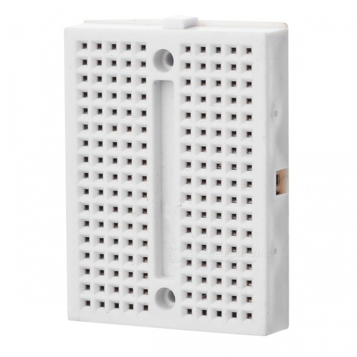 Mini Prototype Printed Circuit Board Breadboard - WhiteOther Accessories<br>ModelI052607Quantity1ColorWhiteMaterialPlasticFeatures170Quantity1ColorWhiteMaterialPlasticFeatures170Form  ColorWhiteMaterialPlasticFeatures170Packing List<br>