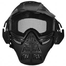 Protective-Outdoor-War-Game-Military-Tactical-Full-Face-Shield-Mask-Black