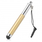 Retractable Stylus Pen mit Anti-Staub-Stecker für iPhone / iPad / Handy - Golden + Silber