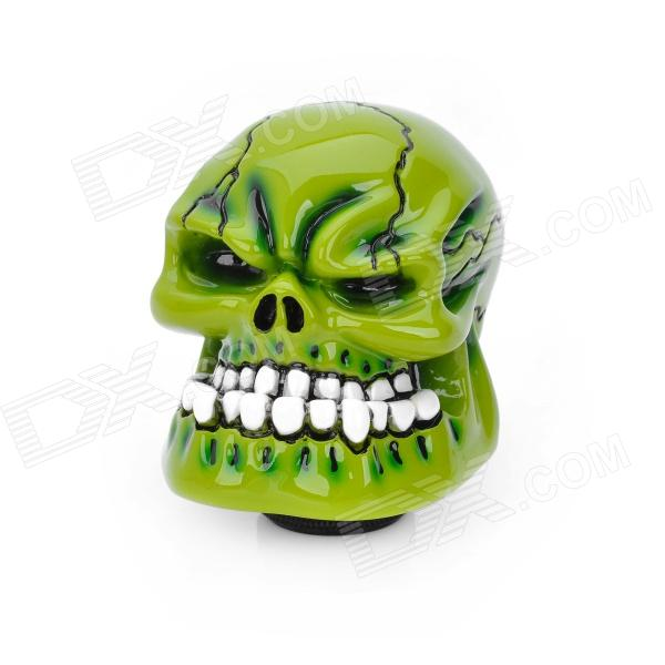 Cool Skull Style Resin Car Gear Shift Knob - Green