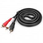 3.5mm Male to 2-RCA Male Adapter Audio Cable - Black (150cm)