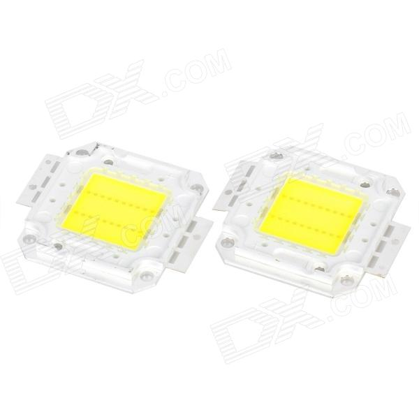 Buy 20W 2500LM 6500K Cold White Light LED Square Module (DC 33~35V / 2PCS) with Litecoins with Free Shipping on Gipsybee.com