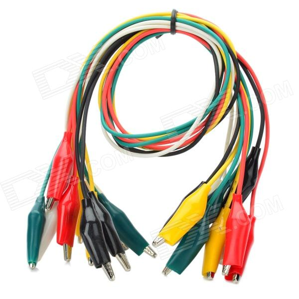 "Electronics TEST 5 X Double END Alligator Clip 18/"" multi color TEST wire"