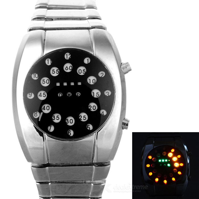 Fashion-Mans-Stainless-Steel-Band-Digital-LED-Electronic-Waterproof-Wrist-Watch-Deep-Grey