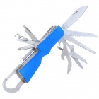 Portable Multi-Function Tool 11-in-1 w / Hanging Spona - modrá