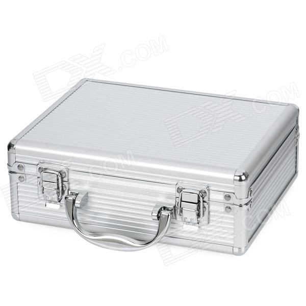 Exquisite Multi Function Metal Storage Box   Silver