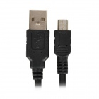USB macho a macho Cable de datos Mini USB - Negro (140cm)