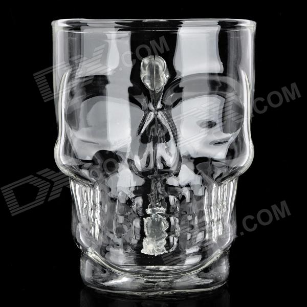 Buy Crystal Skull Style Glass Beer Cup - Transparent (500ml) with Litecoins with Free Shipping on Gipsybee.com