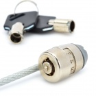 Steel Wire Rope Security Cable Lock w/ 2-Key for Laptops - Silver (1.8m-Length)
