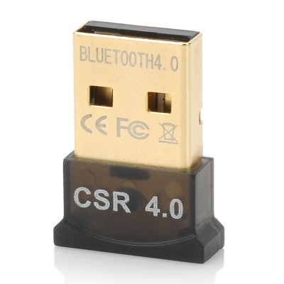 Ultra-Mini Bluetooth CSR 4.0 USB Dongle Adapter - Black
