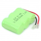 Delipow 700mAh 3.6V 2/3AA Rechargeable Ni-MH Battery for Cordless Telephone - White + Green