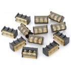 300V 10A 3-Pin ruuviliitäntälohko Connector w / Cover (12-Piece Pack)