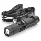 Raysoon RS-TD398 Cree XM-L T6 800LM 5-Mode White Zooming Flashlight - Black (1 x 18650)