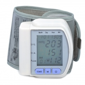 17-LCD-Pulse-Scanning-Wrist-Watch-Blood-Pressure-Monitor-Silver