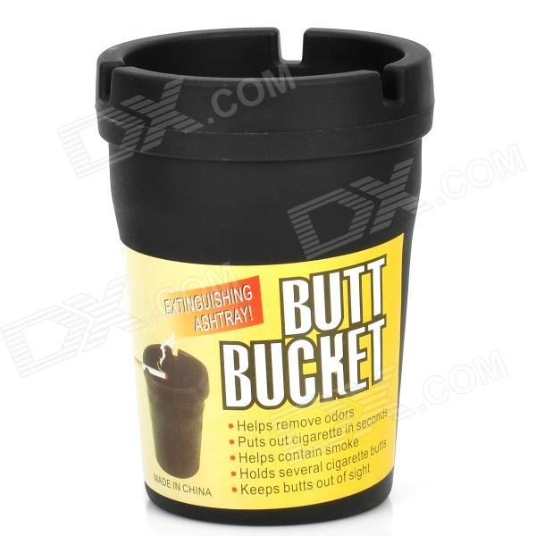 Buy Auto Car Butt Bucket Extinguishing Ashtray - Black with Litecoins with Free Shipping on Gipsybee.com