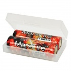 "MarsFire 18650 ""2600""mAh Rechargeable Battery - Red (2-Piece Pack)"