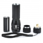 X2000 Flood-to-Throw Zooming LED 200lm Flashlight (1*18650)