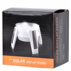 Solar Powered Rotating Display 1xAA Turn Table Plate - Blanco
