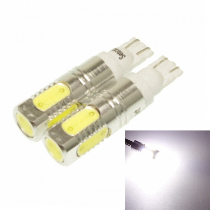 T10 7.5W 5-LED White Light Car Reading / License Plate Lamp (2-Piece)Tail Lights<br>ModelT10Quantity2Quantity2MaterialAluminiumForm  ColorWhiteEmitter TypeLEDTotal Emitters1Color BINWhitePower5WColor Temperature6500~7500KConnectorConnector TypeT10ApplicationDecoration light,Brake light,Backup light,License plate light,Steering light,Reading lampPacking List<br>