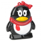 Cute Penguin Style Butane Lighter - Black + White + Red