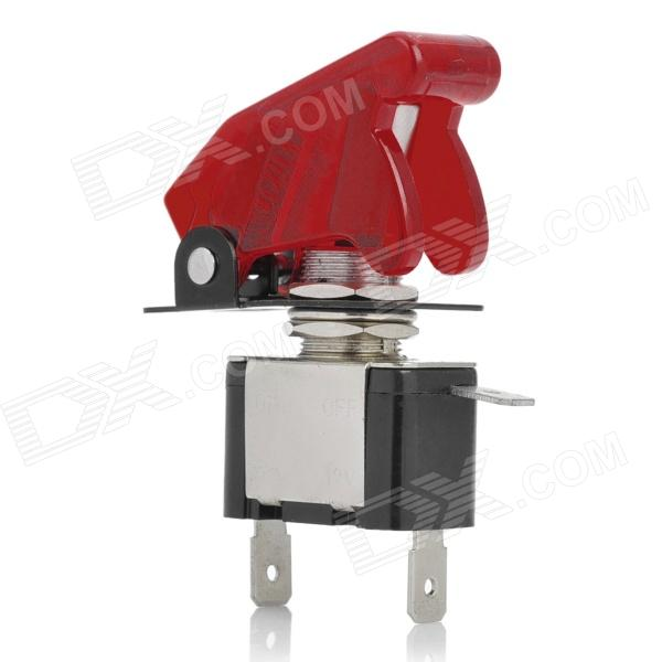 DIY Red LED Illuminated Car Toggle On / Off Switch - Red (12V / 20A)