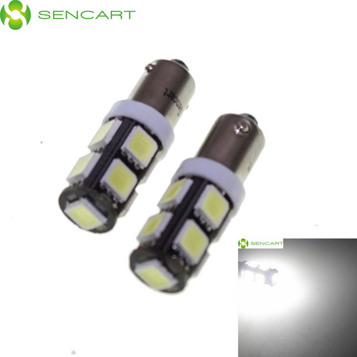 BA9S 4.5W 9-SMD LED White Car Reading / Brake / Signal Lamp (2PCS)