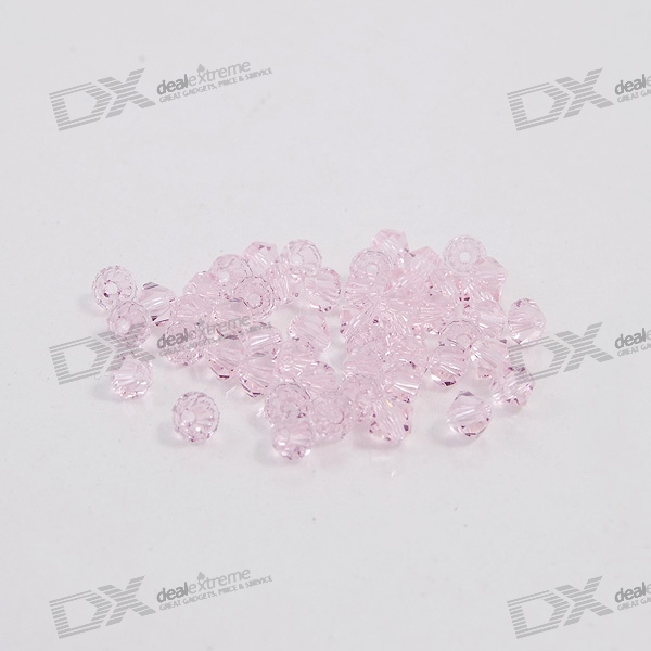Austria Ornamental DIY Crystal Beads Pink (50-Pack)