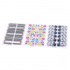 Random Pattern Ultra Thin Polish-Skin Nail Art Foil Sticker  (3-Pack)