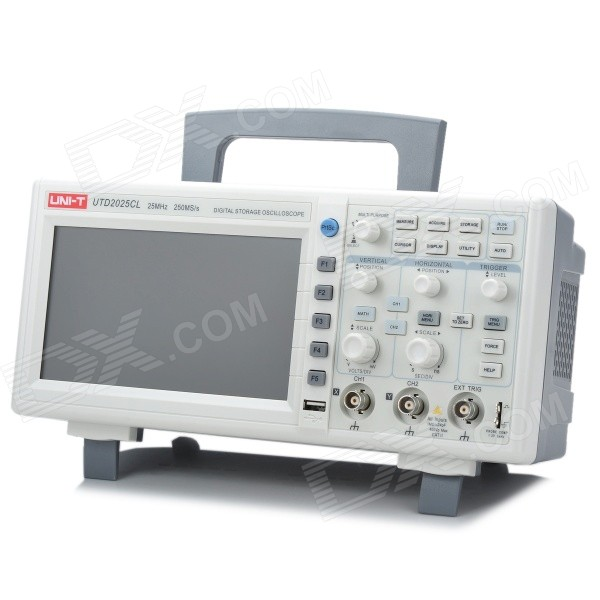 "UNI-T UTD2025CL 7.0"" LCD 2-CH 25MHz 250Ms/s Benchtop Digital Storage Oscilloscope"