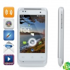 "C110 Android 2.3 GSM Bar Phone w/ 3.5"" Capacitive Screen, Quad-Band, GPS and Wi-Fi - White"