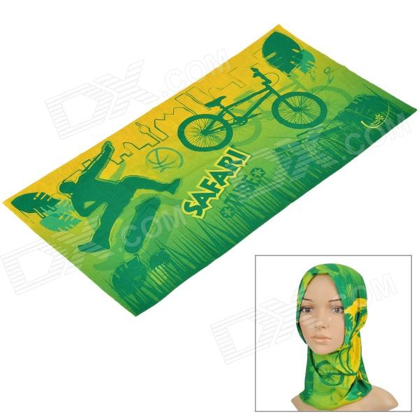 Free Soldier Multifunction Outdoor Sports Bicycle Cycling Seamless Head Scarf - Green