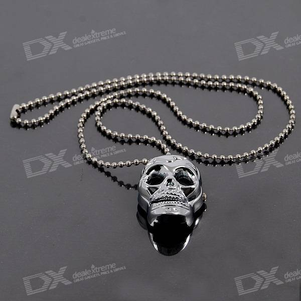 Charming Necklace Quartz Watch (Skull)