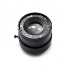 Aluminum Alloy 16mm F1.2 CCTV Camera Lens - Black