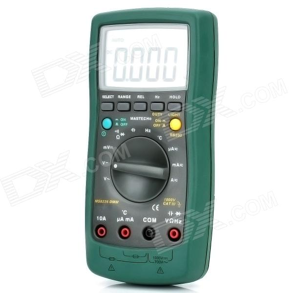 "Mastech MS8226 3"" LCD Handheld Digital Multimeter - Grün (1 x 9V / 6F22)"