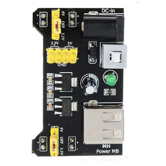 Buy MB102 Breadboard Power Supply Module for Arduino with Litecoins with Free Shipping on Gipsybee.com
