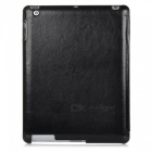Stylish Protective PU Leather Case for Ipad 2 / the New Ipad - Black