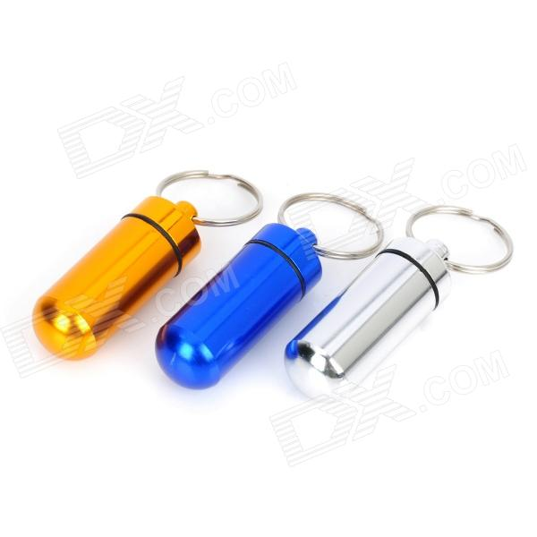 Buy Aluminum Alloy Pill Storage Container Keychains - Multicolored (3PCS) with Litecoins with Free Shipping on Gipsybee.com