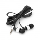 AWEI ES6001 Jack 3.5mm In-Ear w / Caps + clip + Sac Zipper pour Iphone / Ipad - Noir