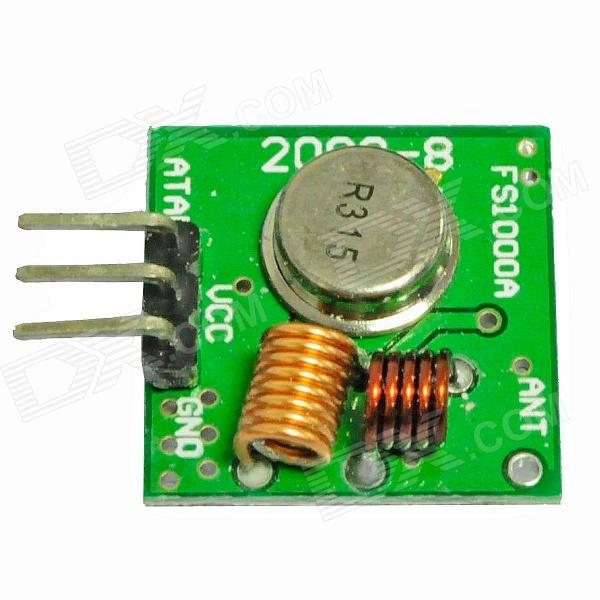 MX-FU1 315MHz Wireless Transmitter Module Superregeneration for ArduinoTransmitters &amp; Receivers Module<br>ModelMXForm  ColorGoldenQuantity1ColorGreenMaterialCopperPacking List<br>