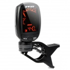 "1.3"" LCD Clip-On Tuner for Guitar / Bass / Violin - Black (1 x CR2032)"
