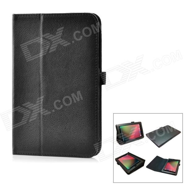 Buy Protective PU Leather Case for Google Nexus 7 - Black with Litecoins with Free Shipping on Gipsybee.com