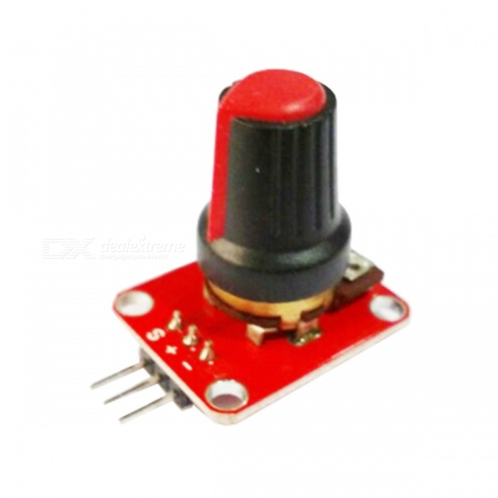 Potentiometer Module for Arduino (Works with Official Arduino Boards)Boards &amp; Shields<br>ModelXM1116Quantity1ColorRedQuantity1ColorRedForm  ColorBlackMaterialPCBFeaturesOutputPacking List<br>