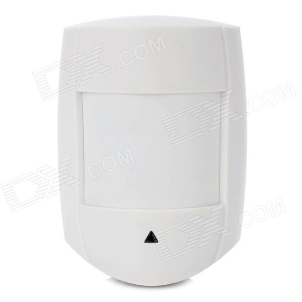Dual Element PIR Motion Sensor Detector - WhiteAlarm Systems<br>Form  ColorWhiteMaterial:Power AdaptornoPower AdapterWithout Power AdapterPacking List<br>