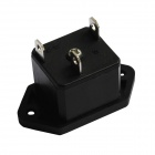 DIY 3-Pin 10A / 250V Potencia Socket Outlet - Negro (5 piezas)
